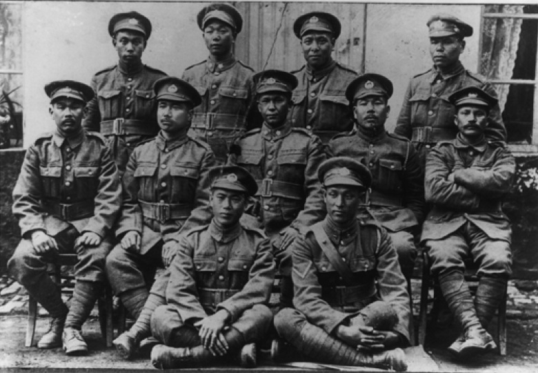 Some members of the 11th platoon under Mitsui, then still a private. He is seated far left.