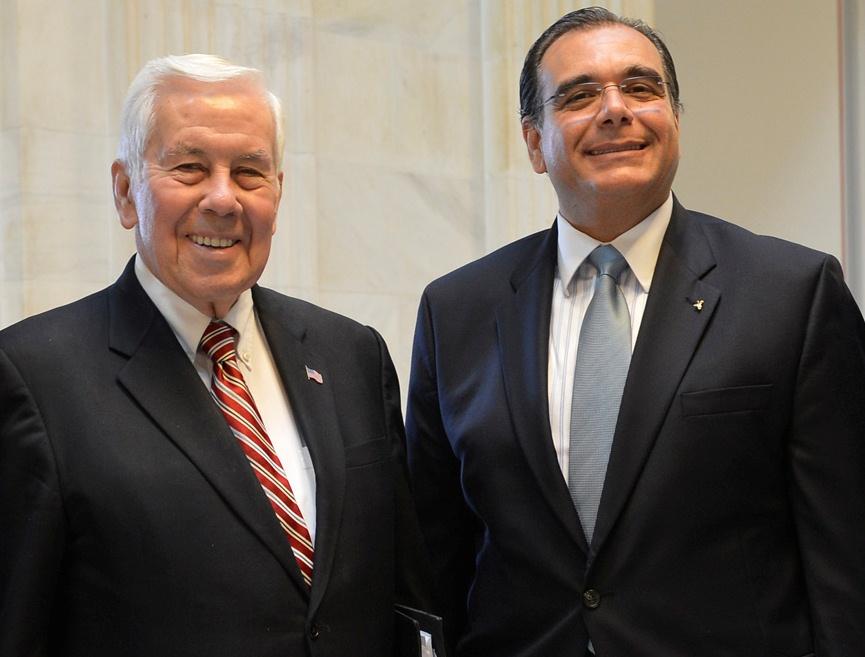 From left, former Senator Richard Lugar of Indiana, and Dr. Juan José Daboub