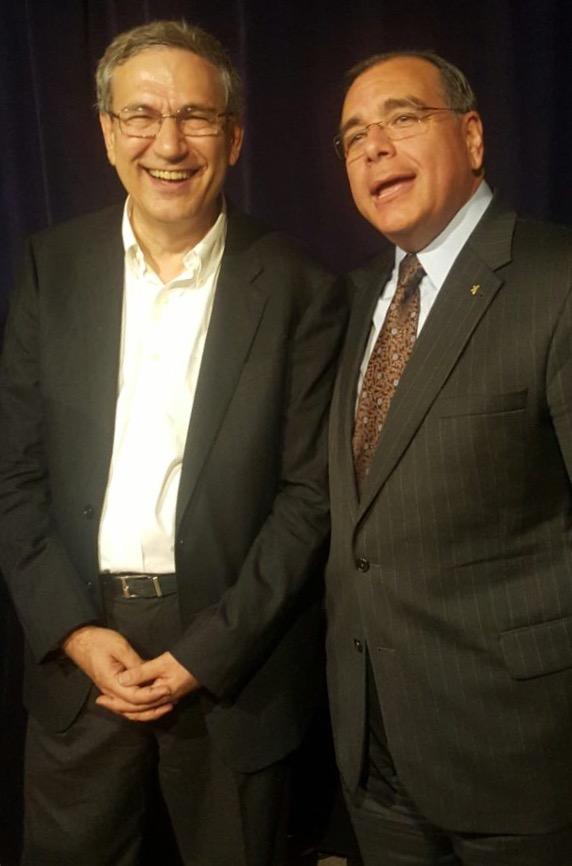 From left,Literature Nobel Prize Winner Orhan Pamuk, and Dr. Juan José Daboub