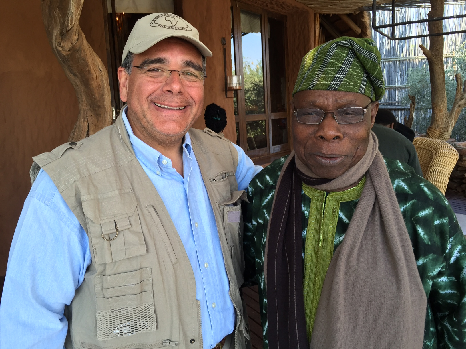 From left, Dr. Daboub, and former President of Nigeria Olusegun Obasanjo