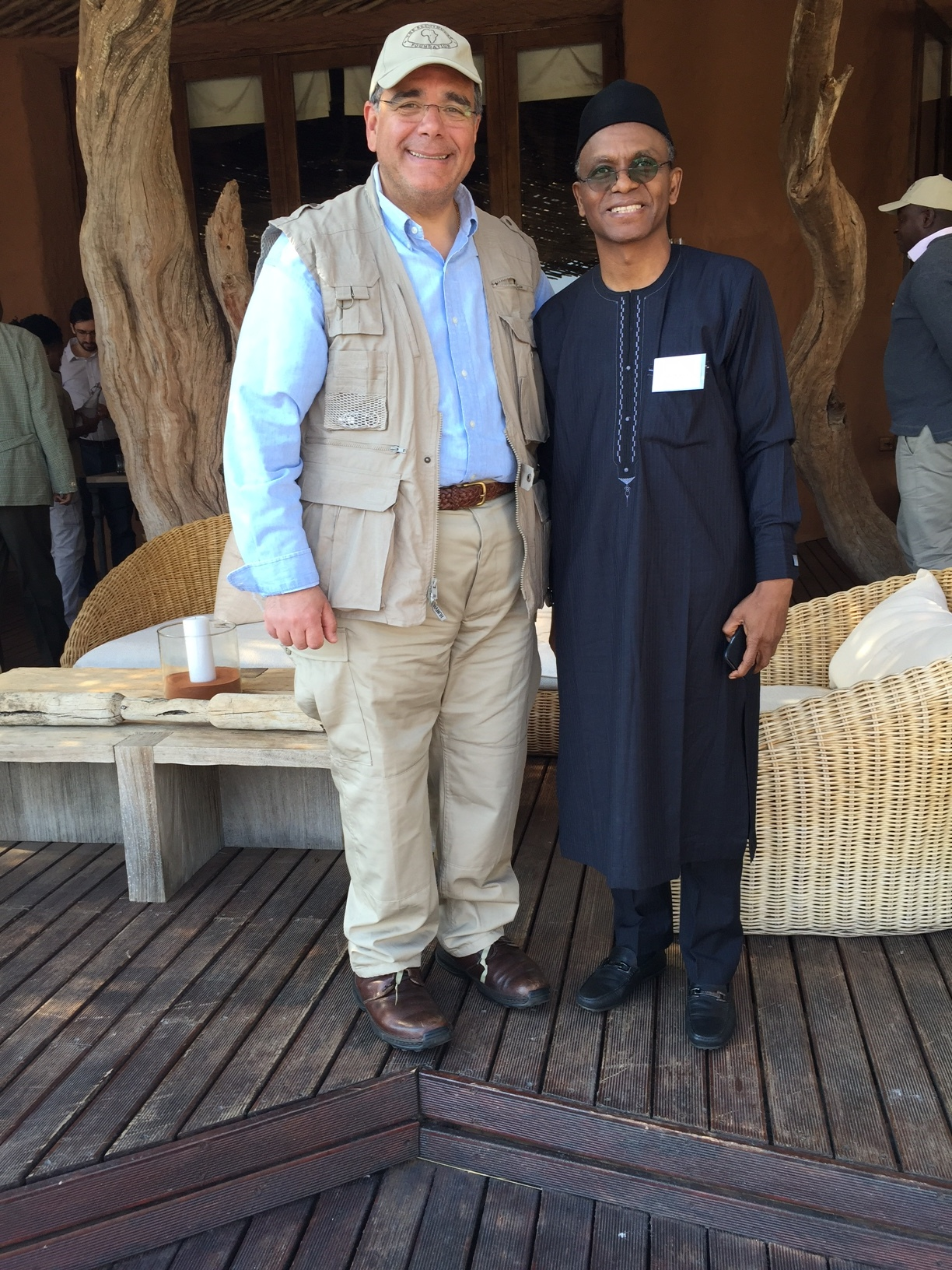 From left, Dr. Daboub, and Governor Nasir Ahmad el-Rufai of Kaduna State, Nigeria,