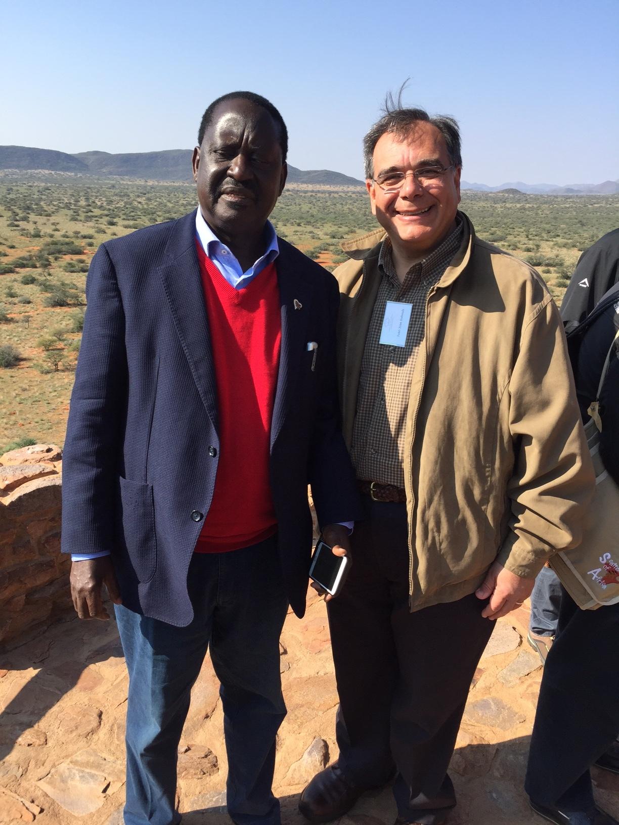 From left, former President of Kenya Raila Odinga, and Dr. Daboub