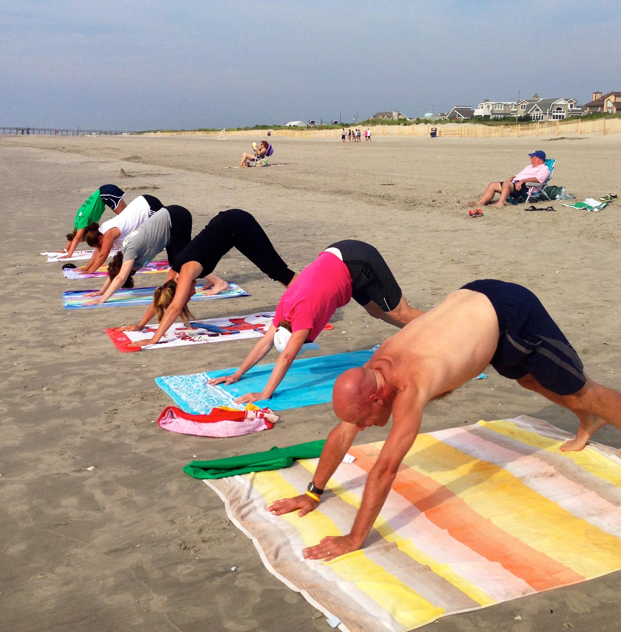 Yoga with Katie-beach Yoga Avalon Down Dog.jpg