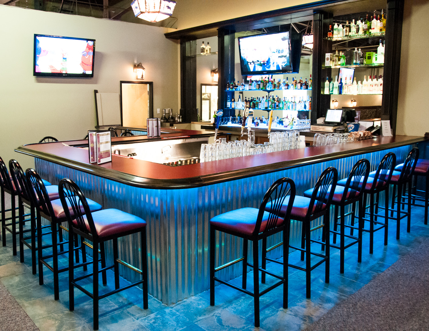 """Only steps from the """"Theater Room"""" is our Bistro and Bar area, where individuals can take advantage of a cash bar."""