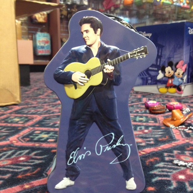 And don't forget all the Elvis items in our gift shop, including this brand new Elvis lunch box! We also have tote bags, glasses, salt & pepper shakers, and more.