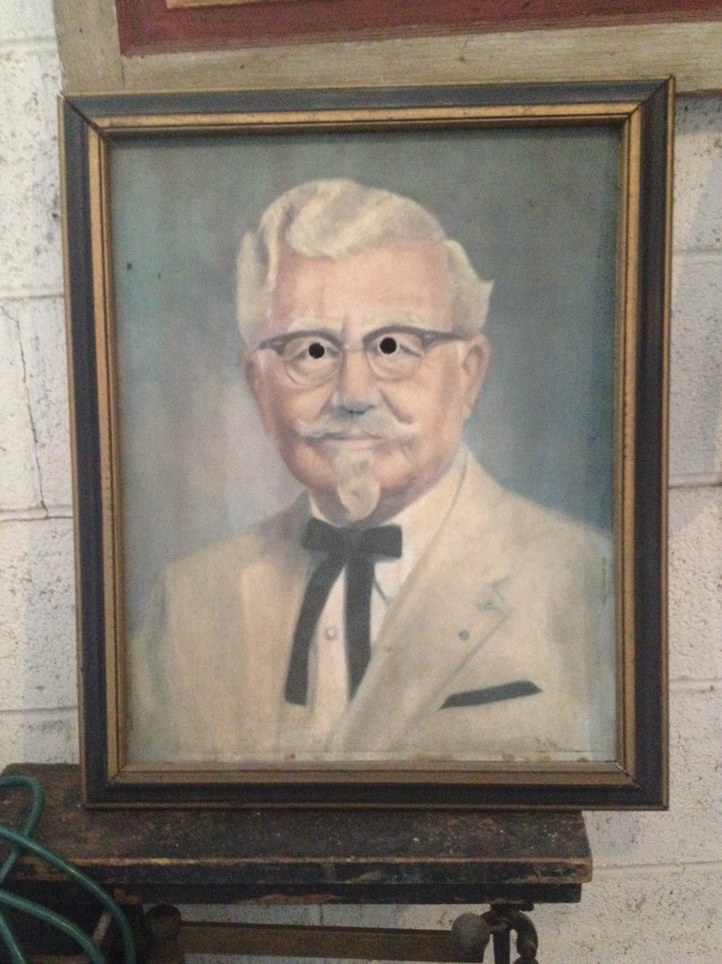 For some reason, our painting of Colonel Sanders has trick eyes. Spooky! Think you can find it on the tour?