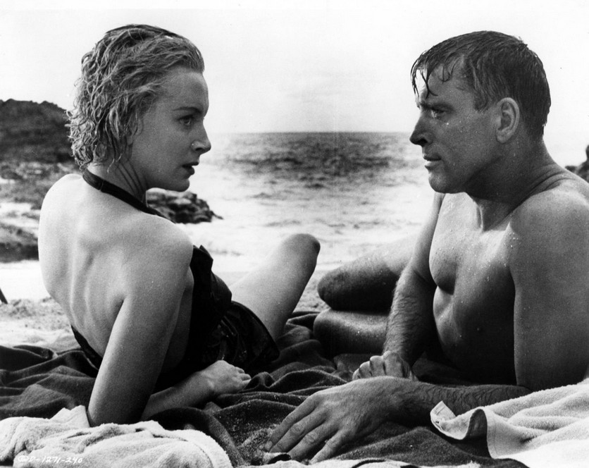 Deborah Kerr and Burt Lancaster in  From Here to Eternity
