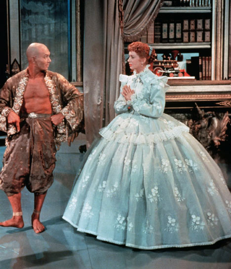 Yul Brynner and Deborah Kerr in  The King and I.