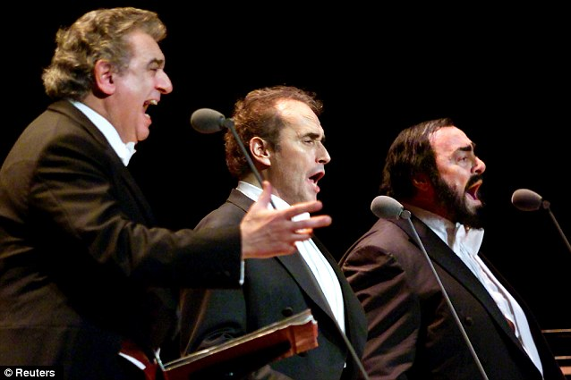 The Three Tenors: Domingo, Carreras, and Pavarotti