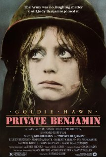 Private Benjamin starring Goldie Hawn came out in what year? a. 1976  b. 1980  c. 1990