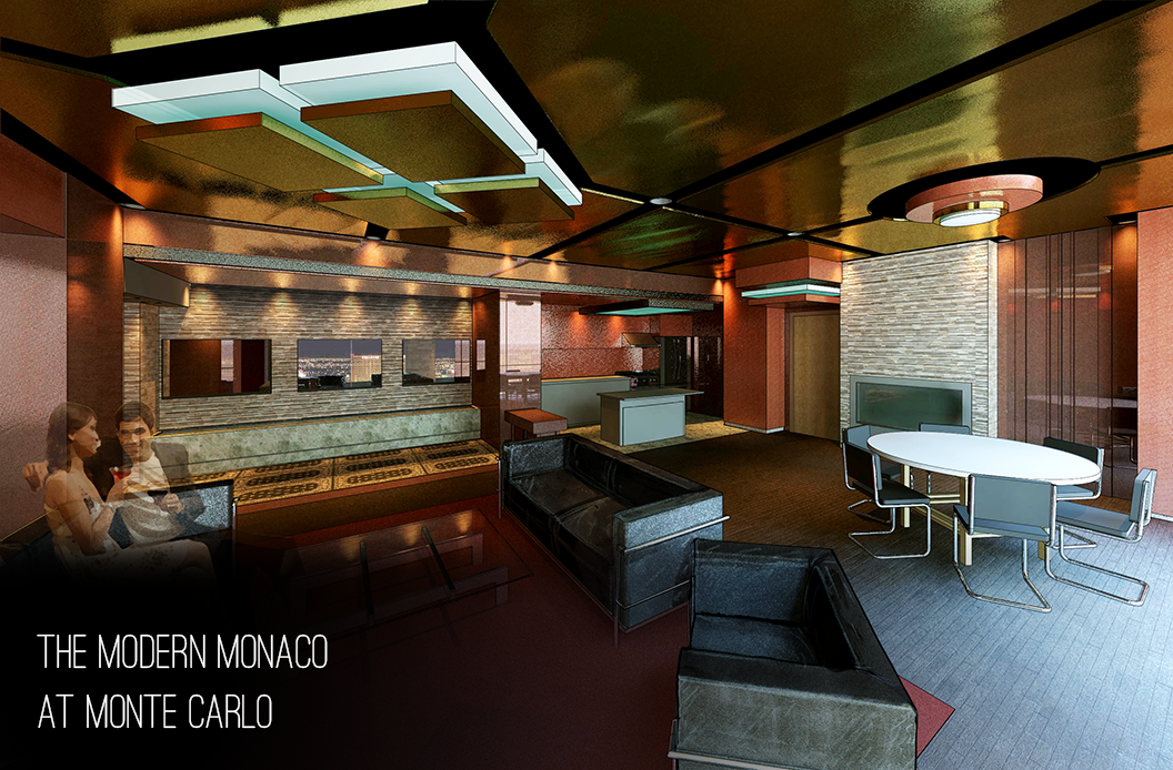 Modern Monaco - Intended to be a Highroller experience at the Monte Carlo, Las Vegas.