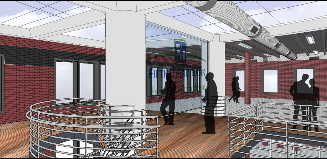 5/3 Bank Concept - Open office and community education space for Cincinnati.