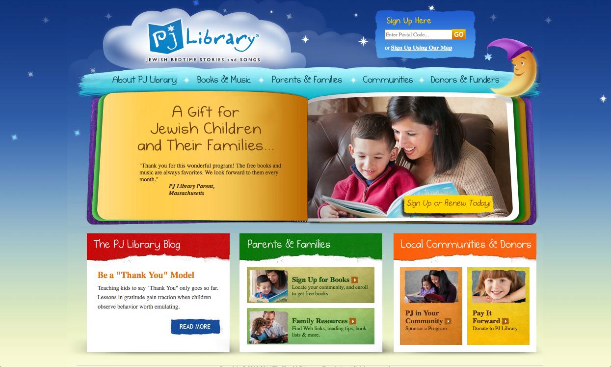 PJ Library Homepage