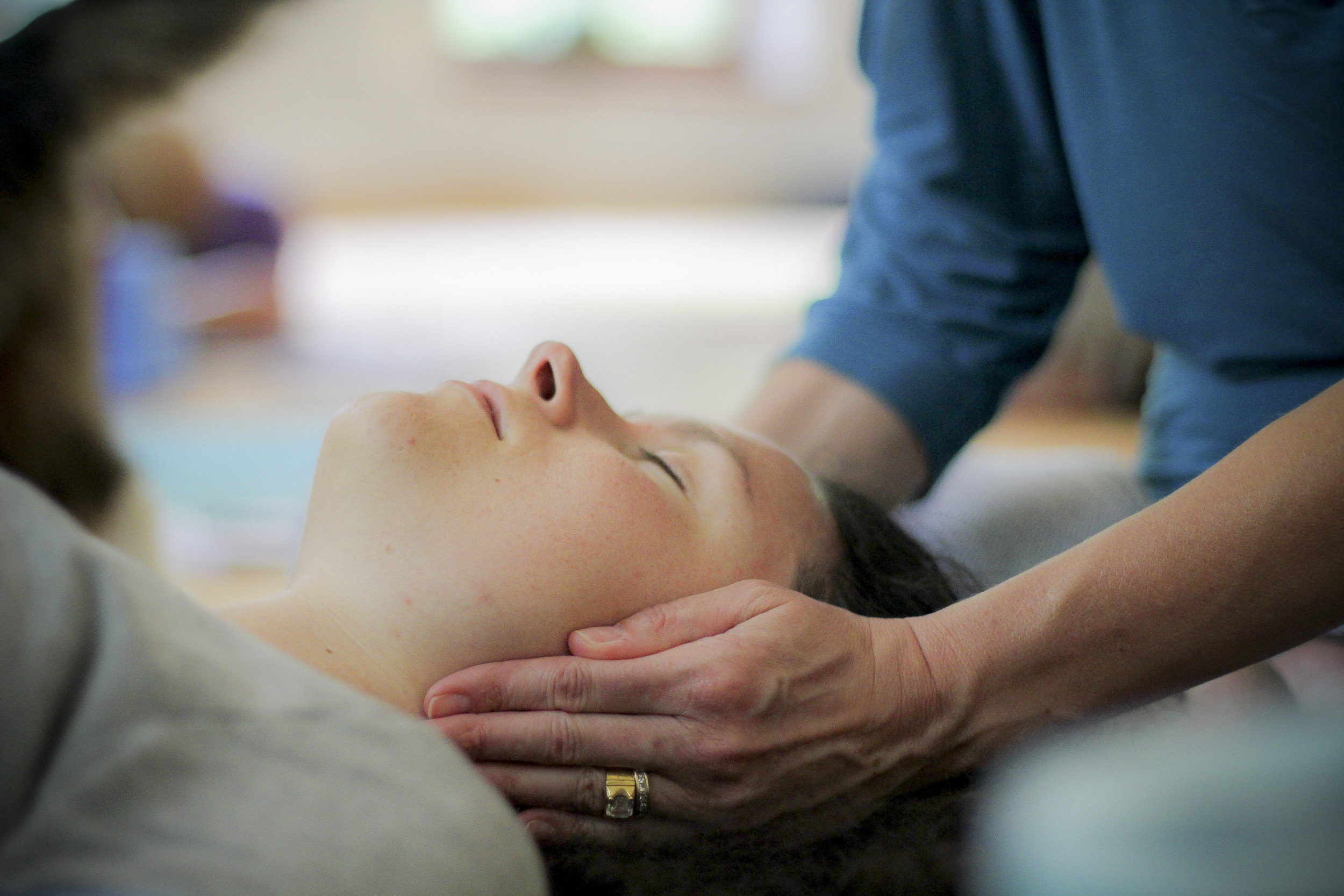 Yoga chikitsa,therapeutic touch aspect of yoga integrates the ayurvedic principles of marma therapy and provides students with the gift of presence and acceptance.