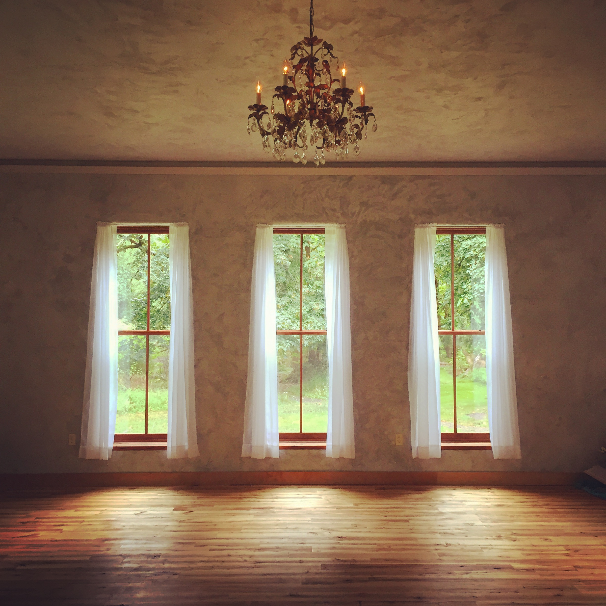 the studio at the YogaFarm... and its windows to the soul....
