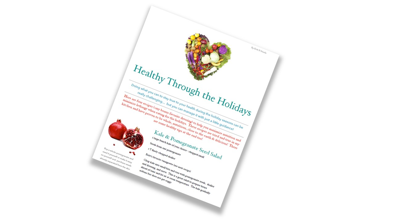 Healthy Through the Holidays -