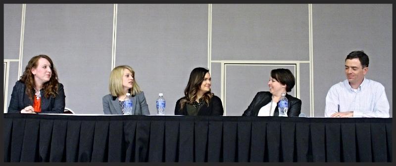 Shara Clark, left, Whitney DeMasters, Rebecca Potzner, Lauren Doyle, Peter Osborne.