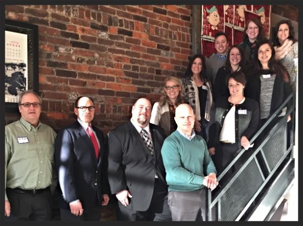 Cincinnati PRSA's leadership team with Joseph Truncale and Mark McClennan, bottom row, center.