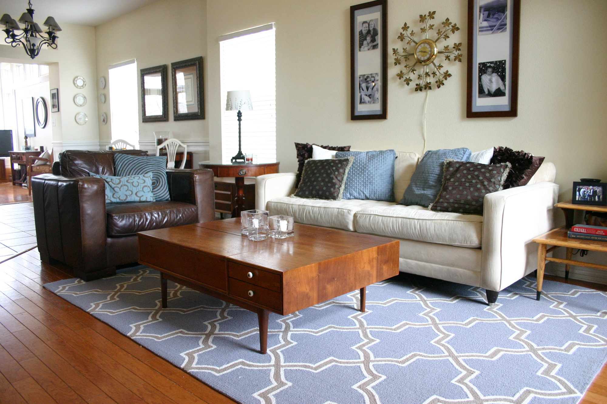 Proper sizing for a living room rug