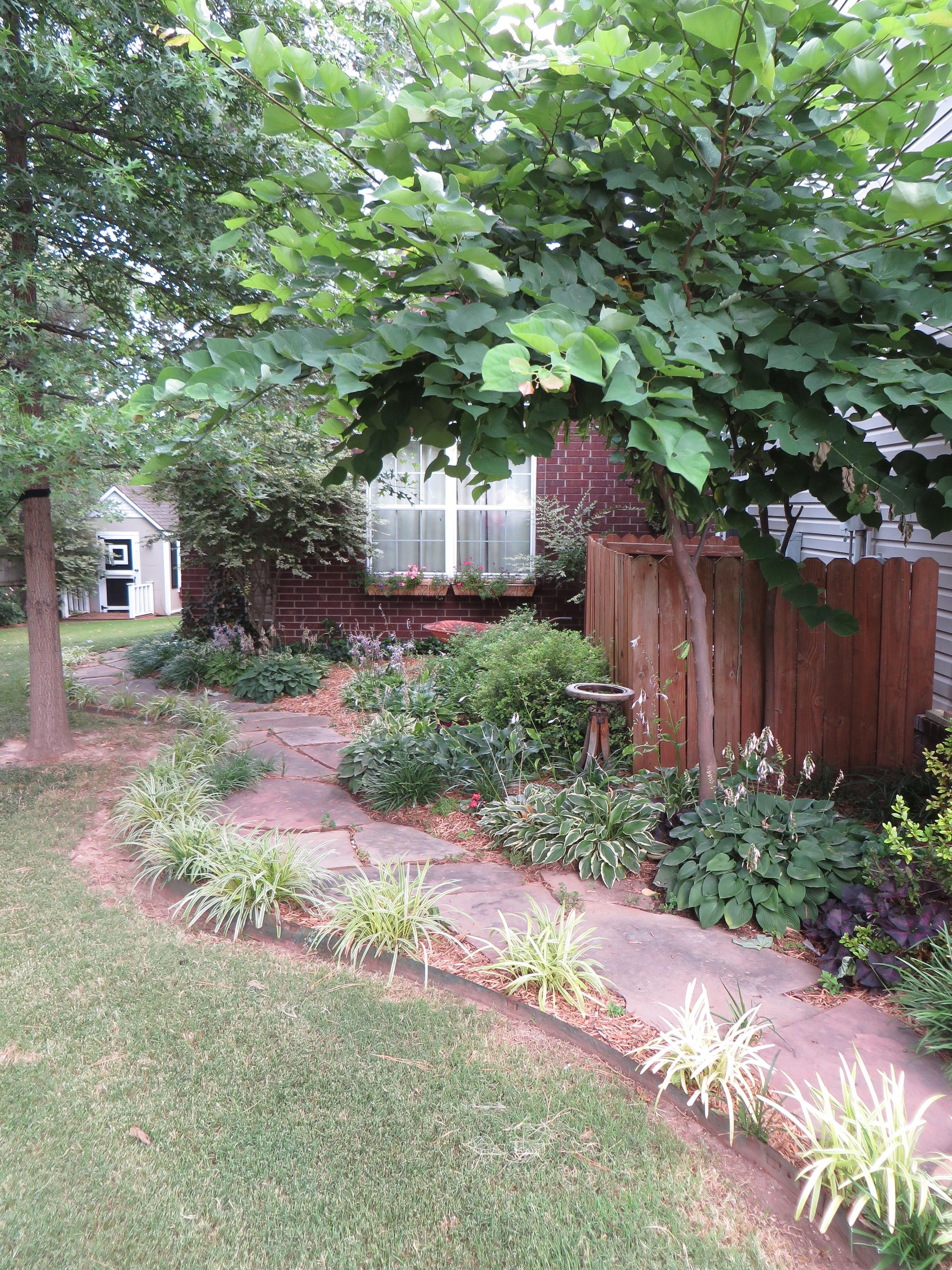 Side yard...