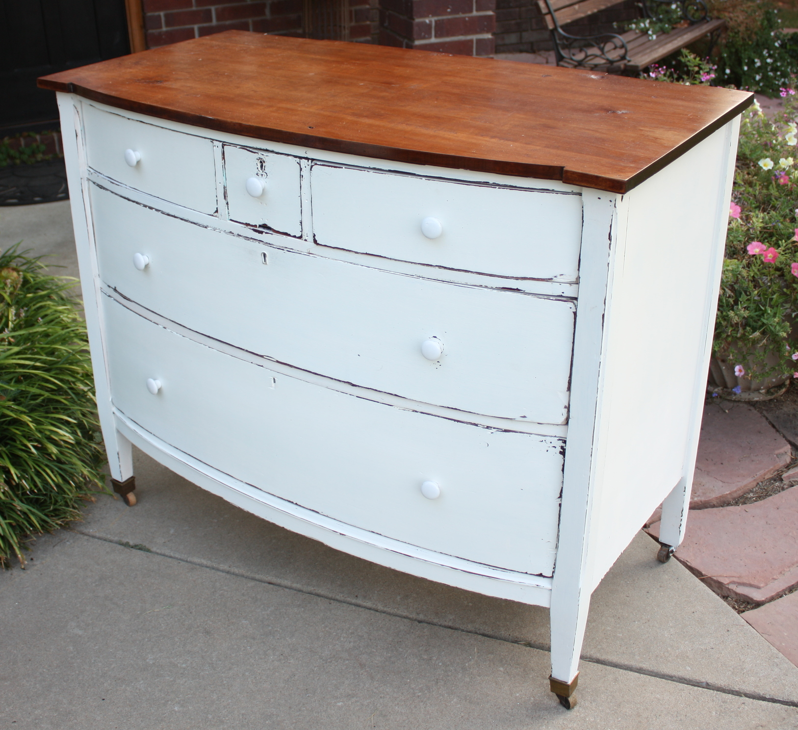 Antique Mahogany Dresser Makeover Beckwith S Treasures