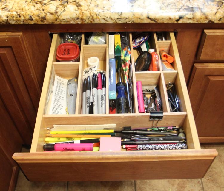 Organizing the junk drawer....