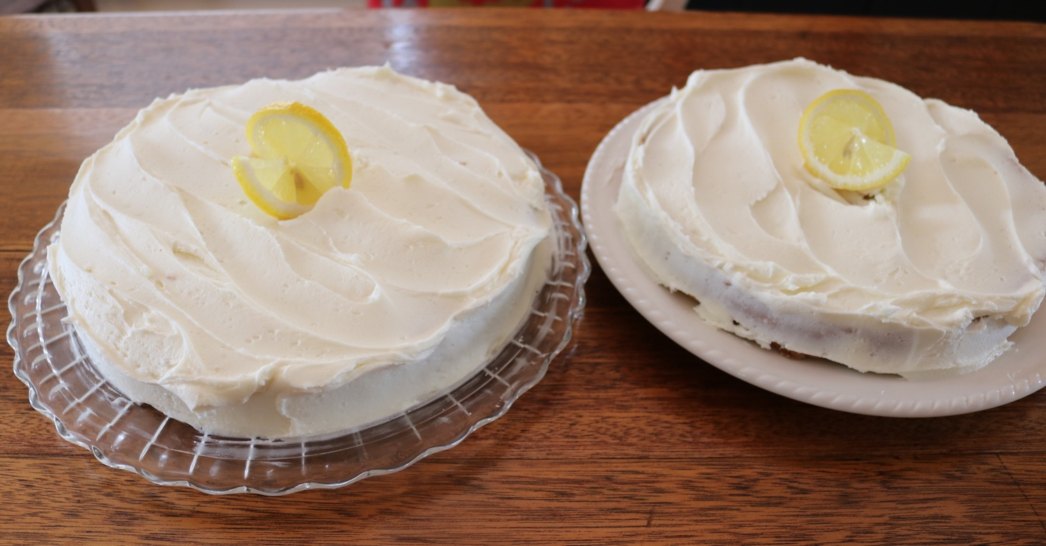 Notice my cakes aren't near as pretty as Sue's….but you know what, they taste just as good!