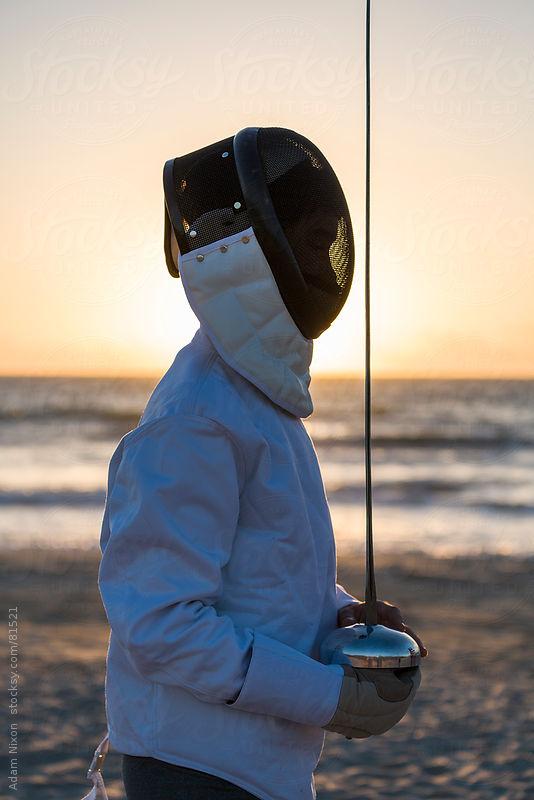 Fencer at Sunrise