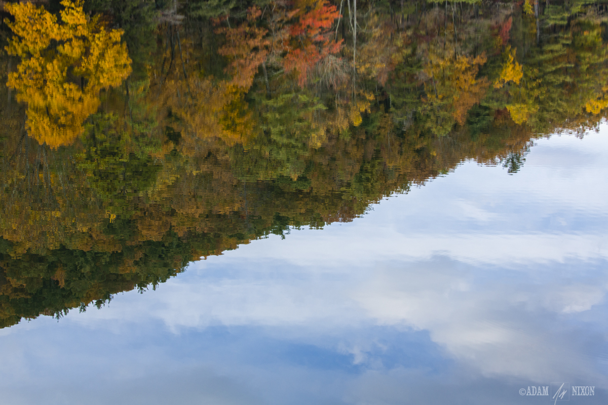 Reflections of the fall foliage in Lake Trahlyta