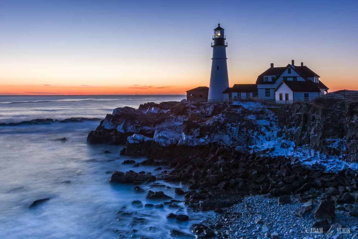 Portland Head Light, Blue Hour