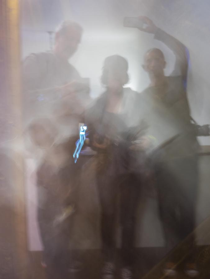 Ghostly group selfie