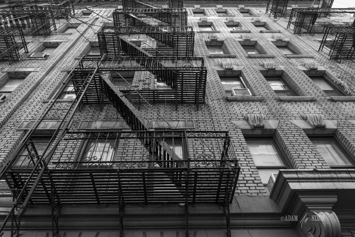 Vintage fire escape on the side of a building
