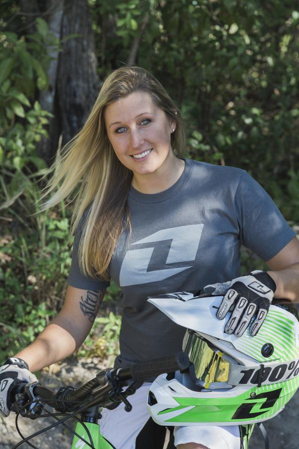 Portrait of a female mountain biker