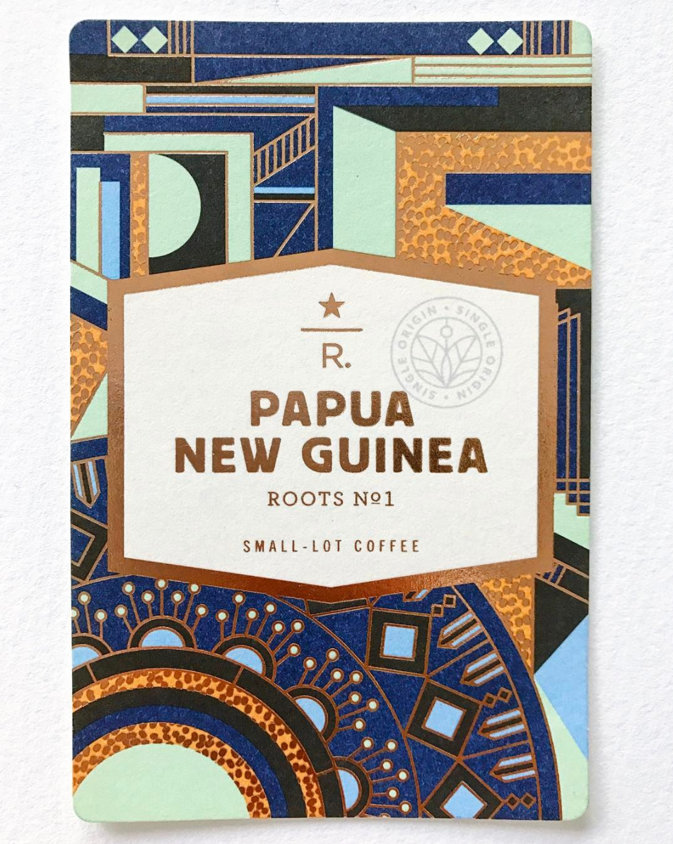 Starbucks Reserve - Papua New Guinea Roots #1 - There are hundreds of ethnic groups indigenous to Papua New Guinea and the island nation is also considered one of the most culturally diverse in the world. People of the highlands engage in colorful local rituals that are called