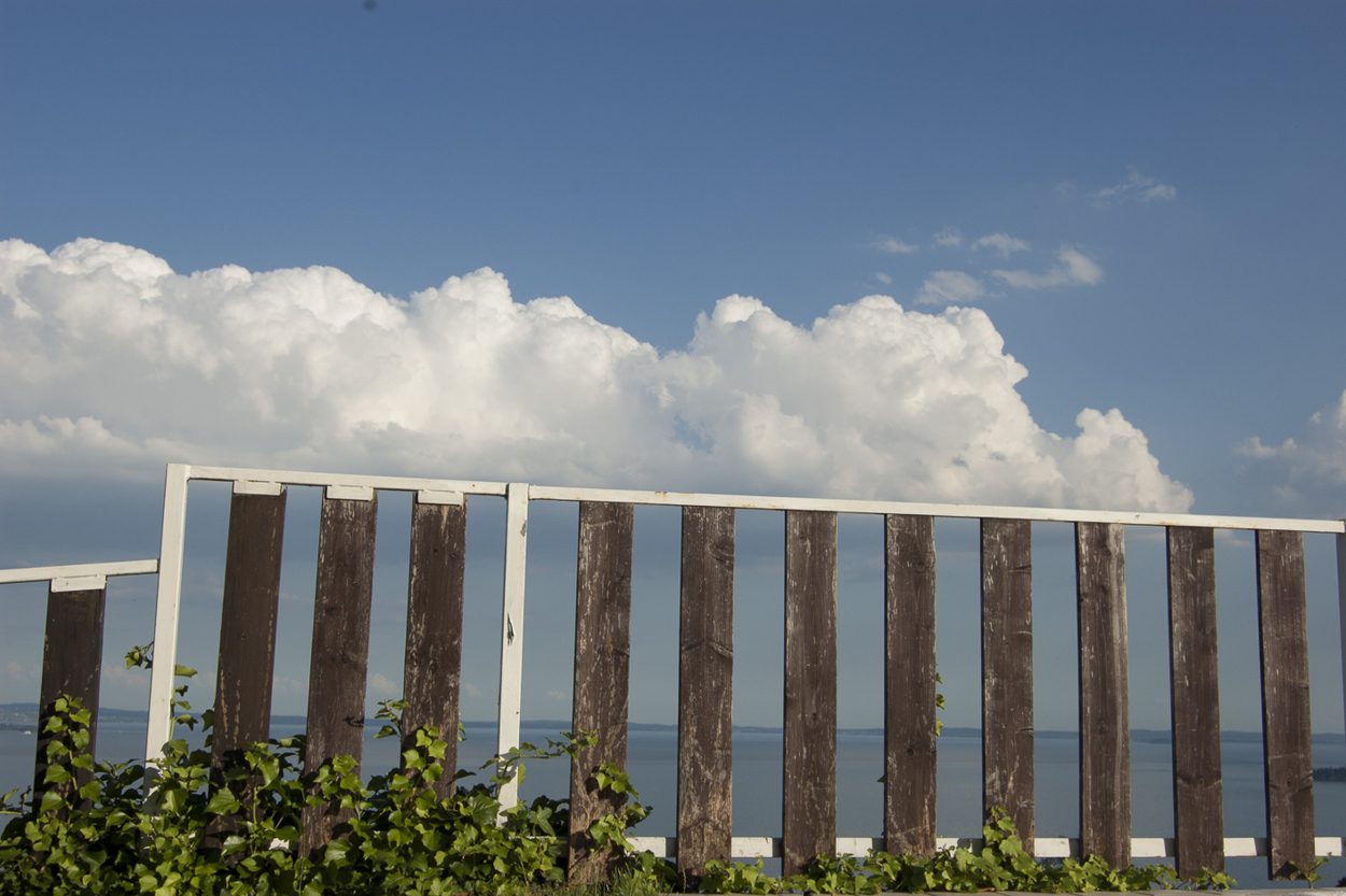 Fence and cloud
