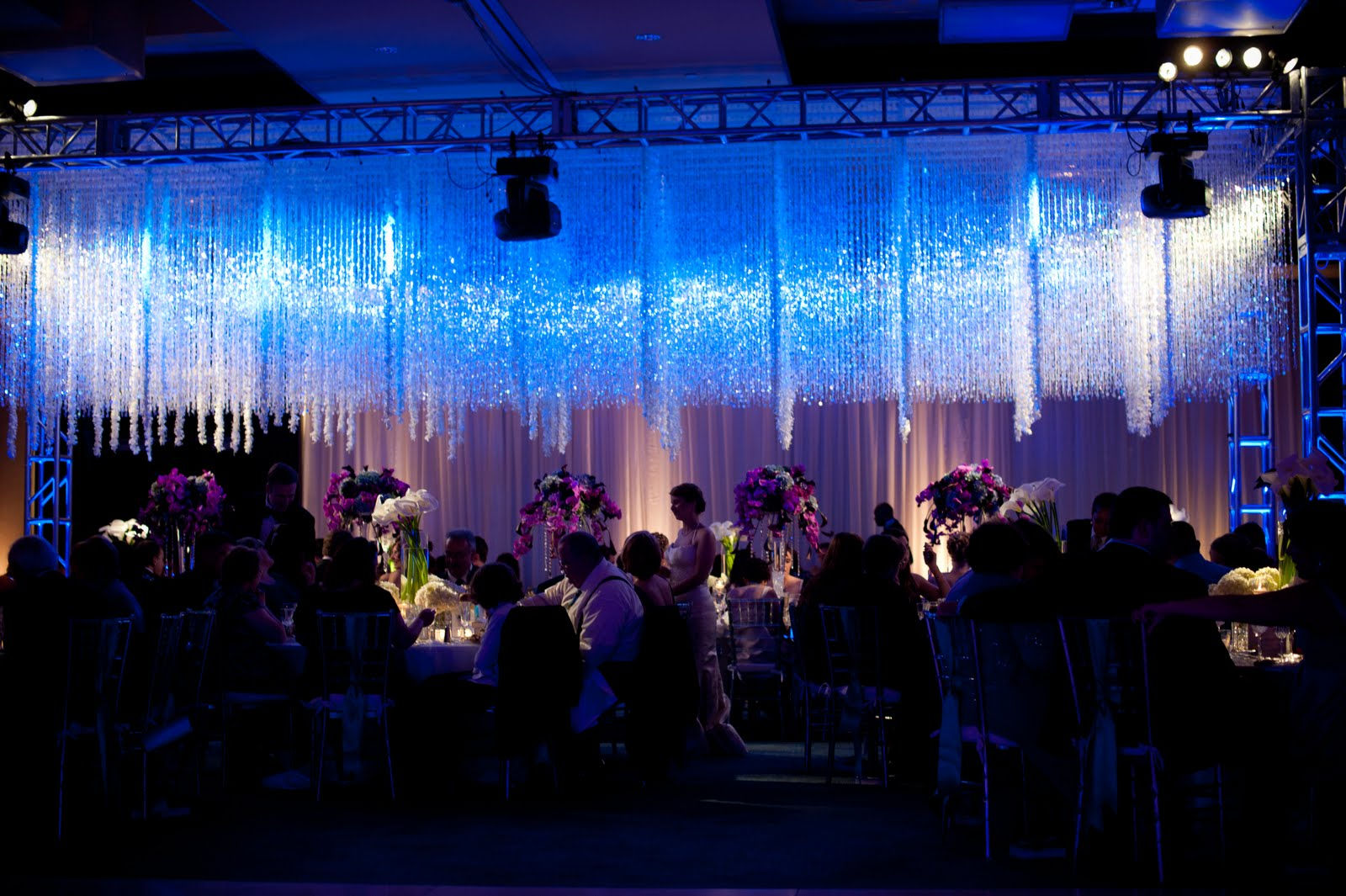 Crystal and Orchid Head Table