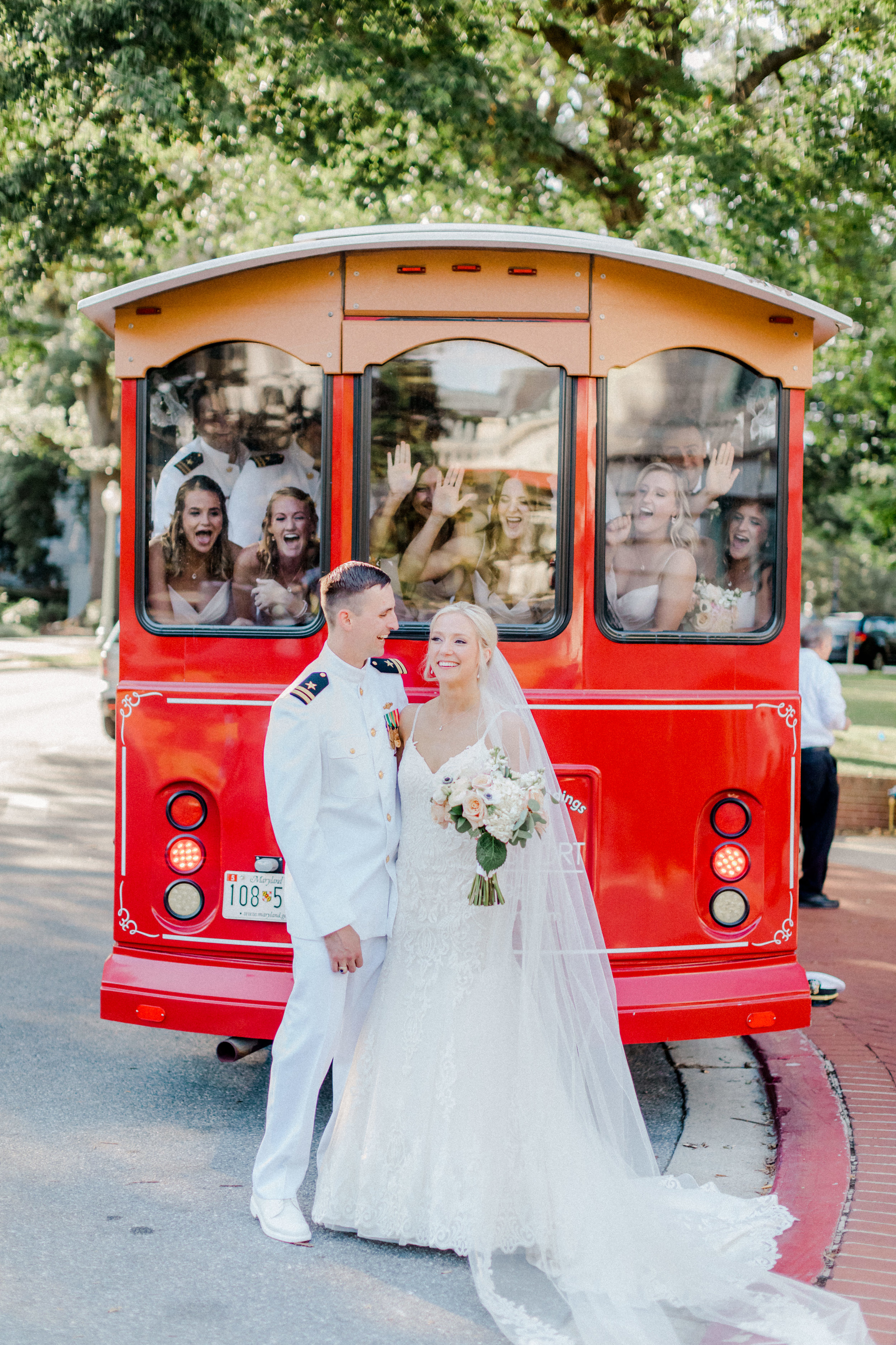 Kendall & Kyle had fun with their spunky bridal party