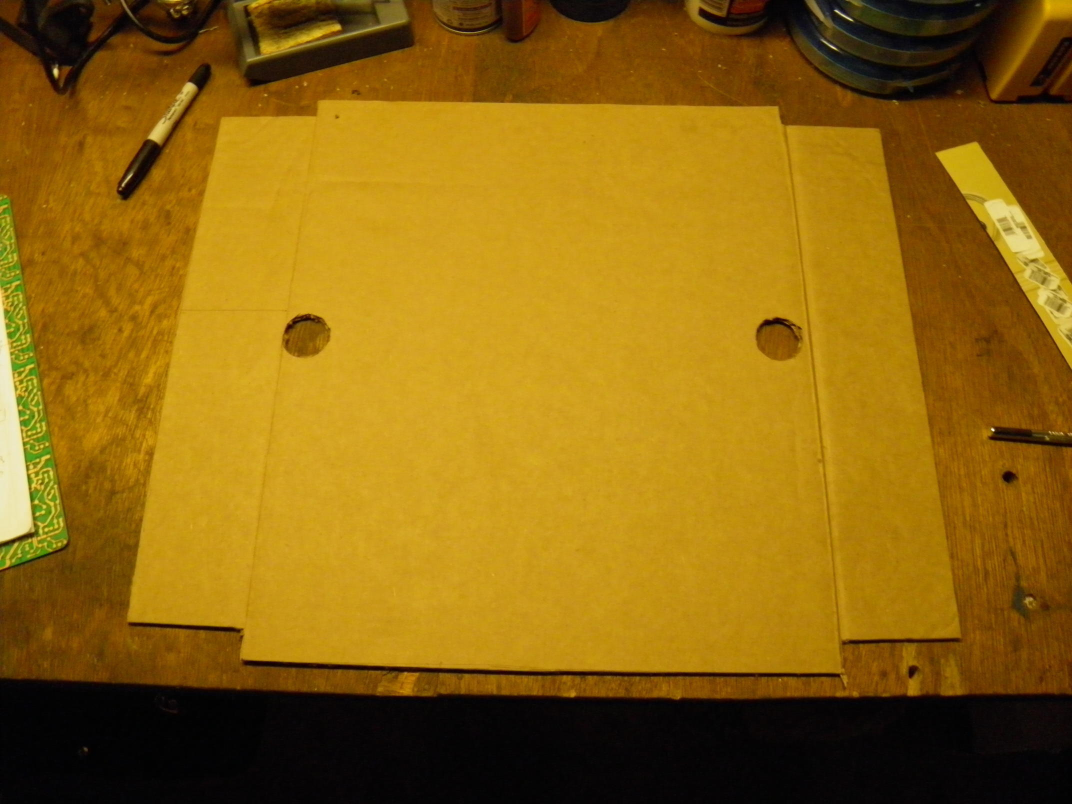Reflector Cardboard Cut with Knife
