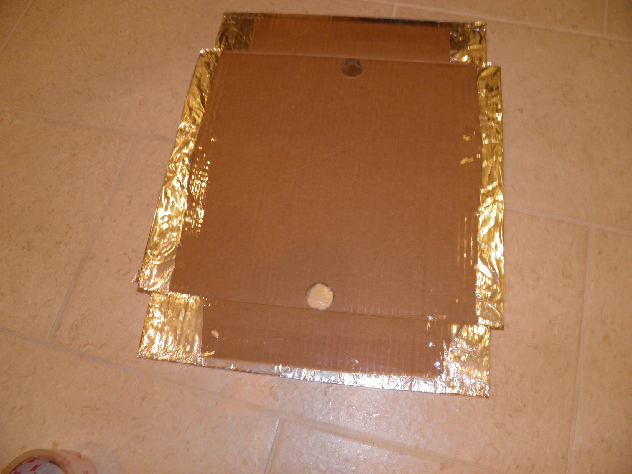 Aluminum Foil Taped to Cardboard
