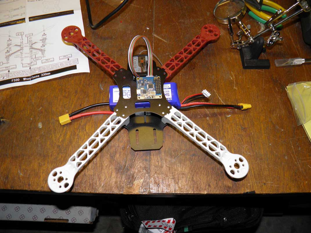 Preliminary Battery, MultiWii, and Rx Mounting Locations