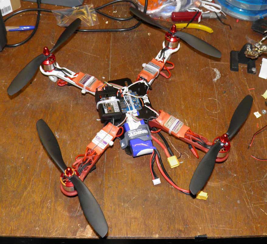 Propellers Added, Ready for Flight
