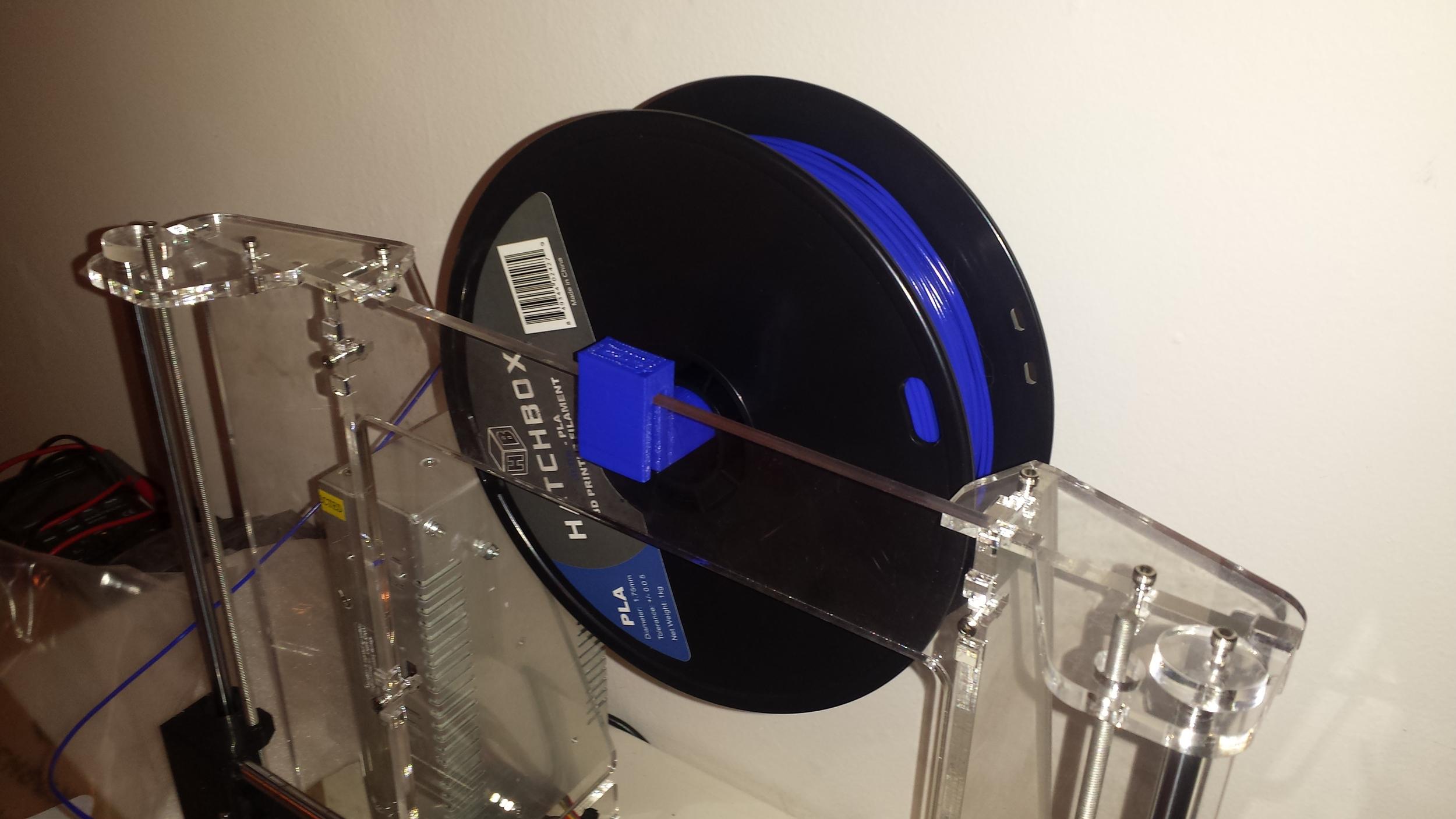 Filament Spool Holder - Mounted