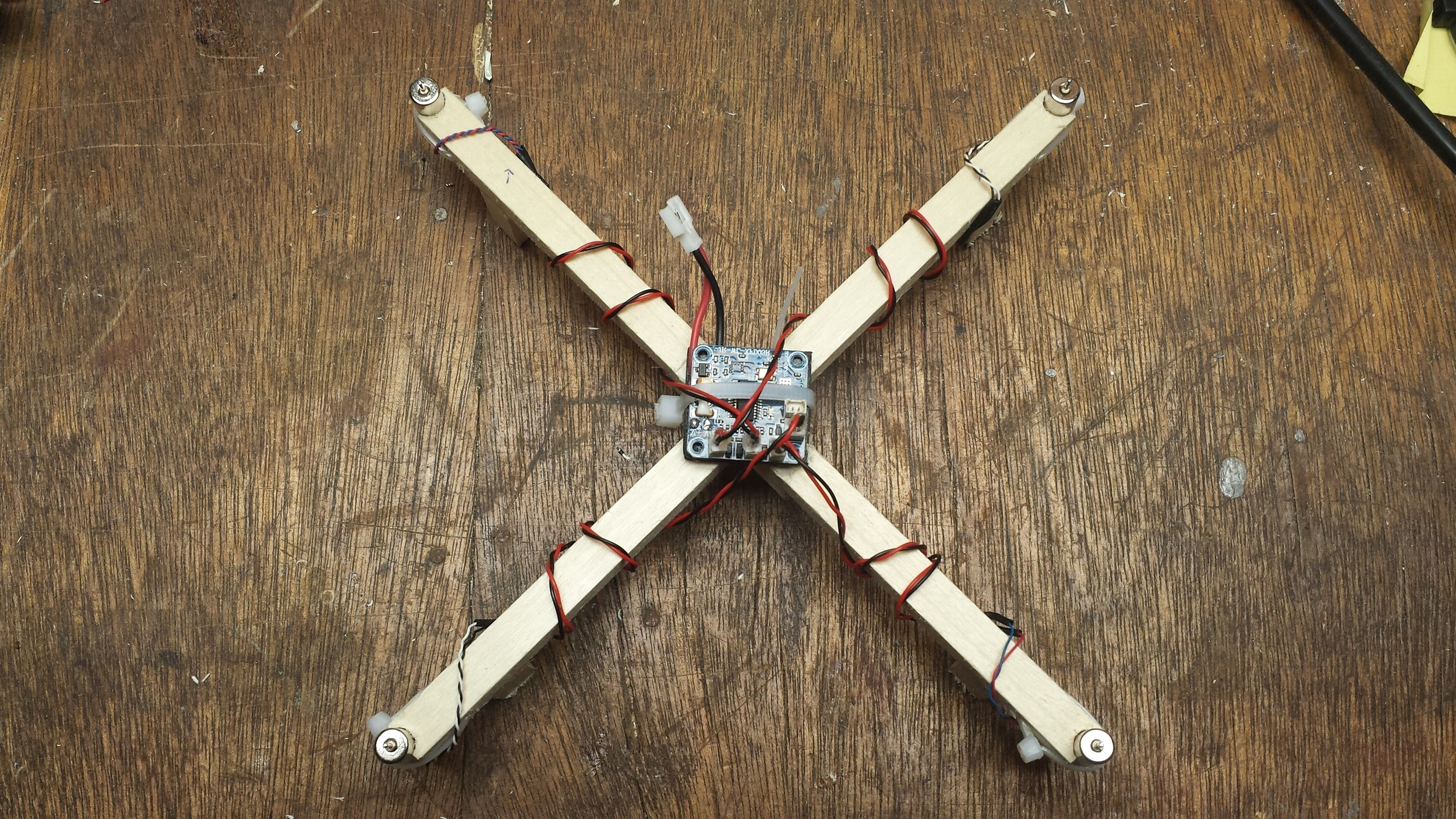 Wires Wrapped and Connected to Flight Controller