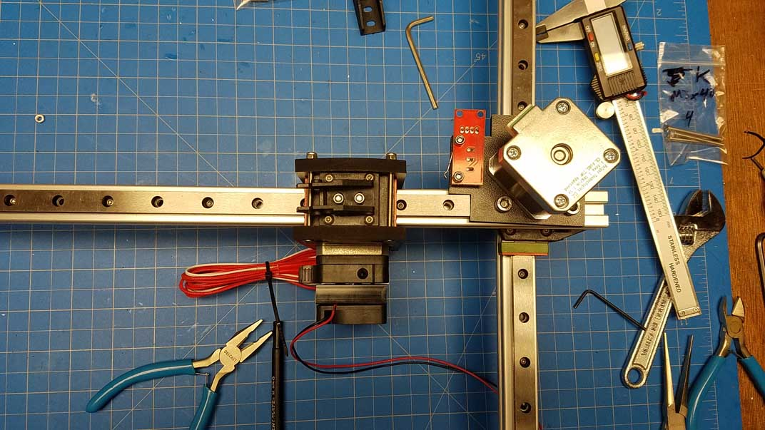 Correct placement of the X axis motor and extruder