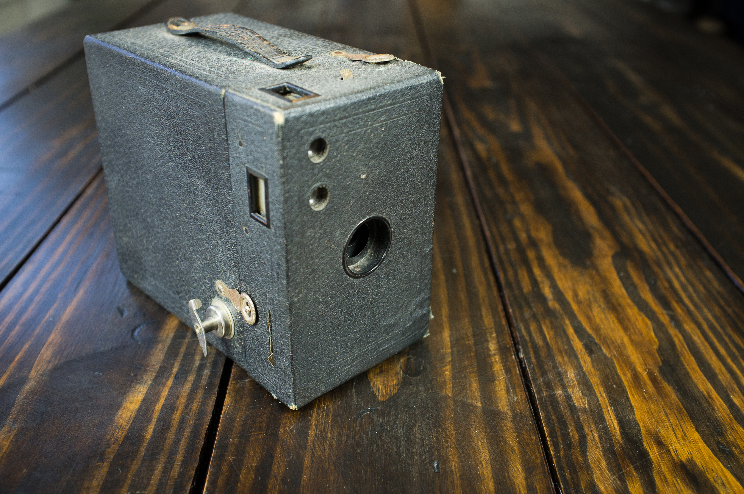 Eastman-Kodak Box Brownie, converted for tintype use.