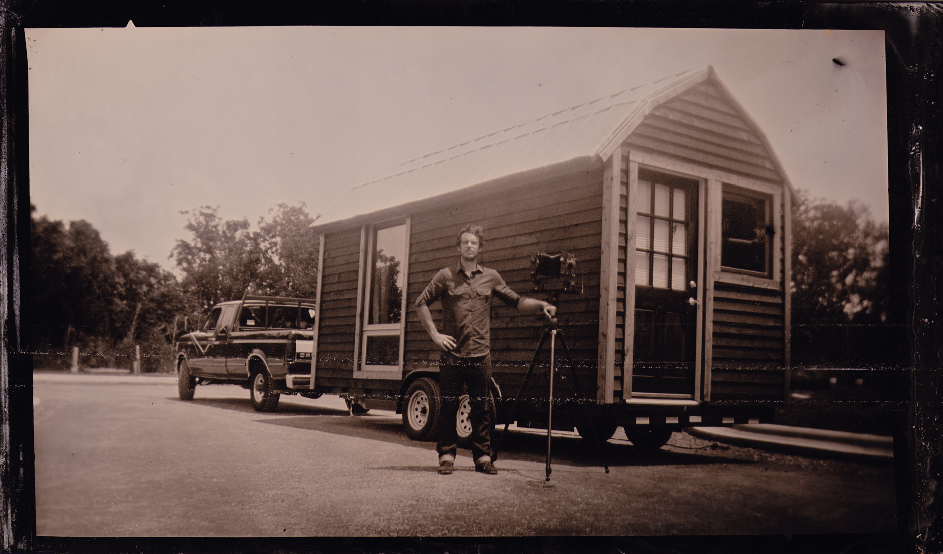 Lumiere's traveling Tintype Studio and Darkroom
