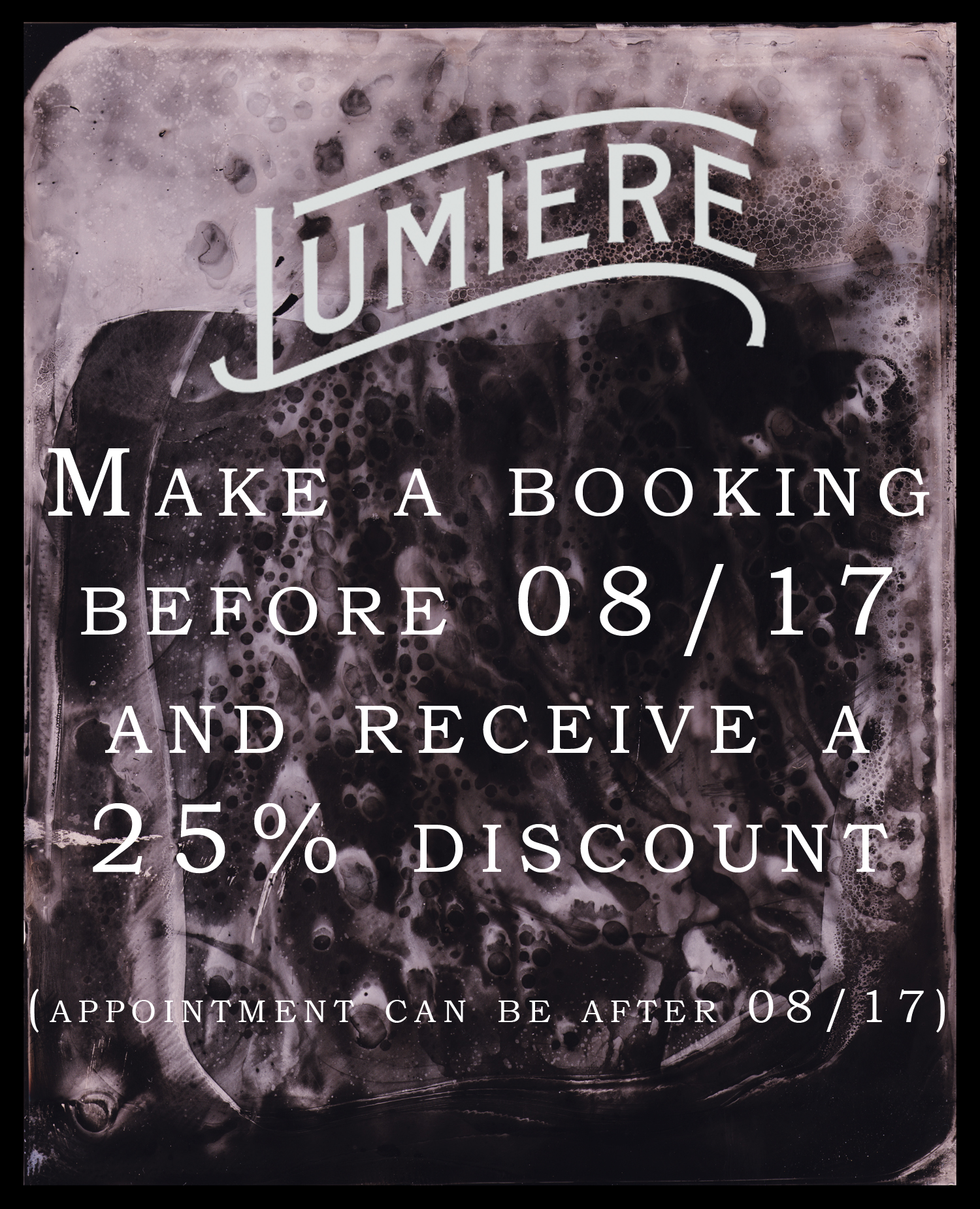 25% discount off your tintype!