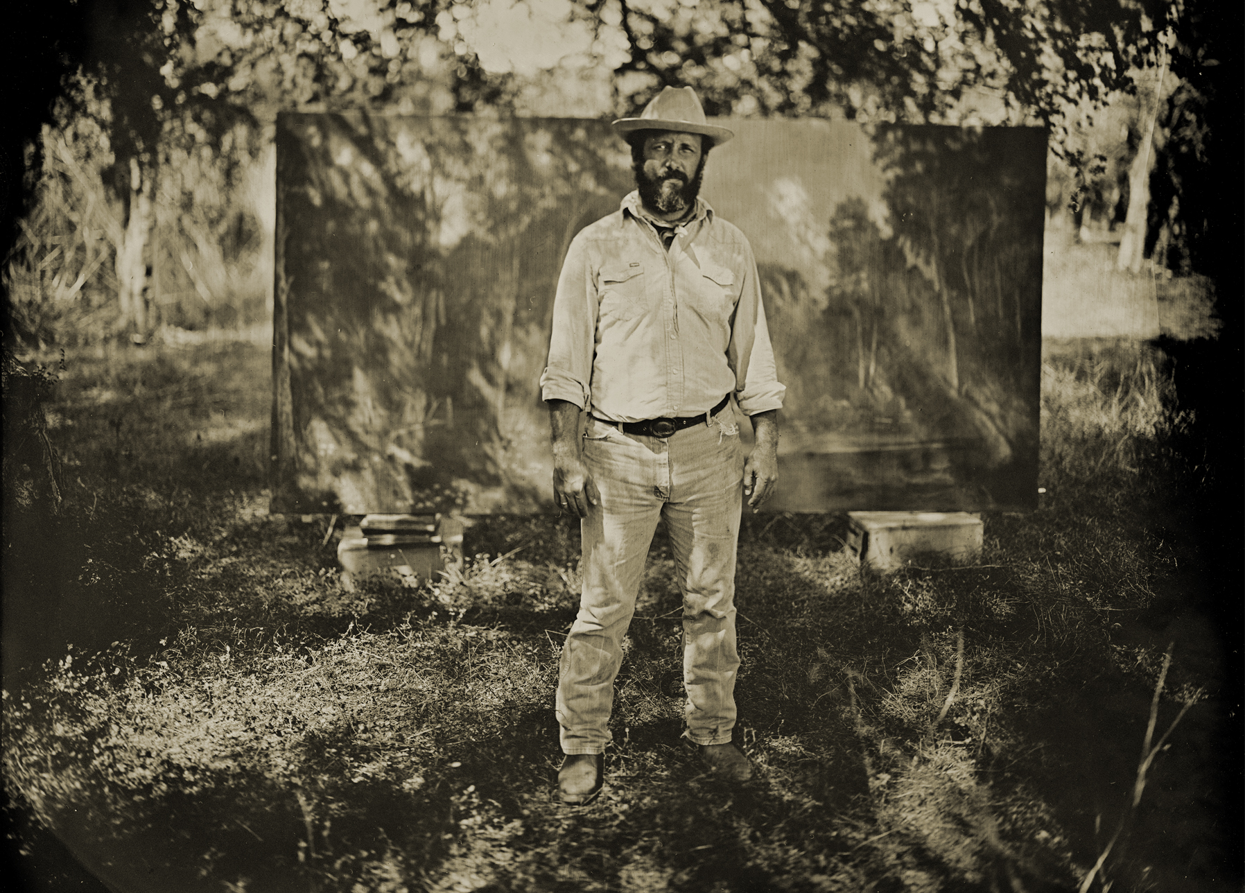 Original tintype of  Jack Sanders  for  Tribeza  magazine
