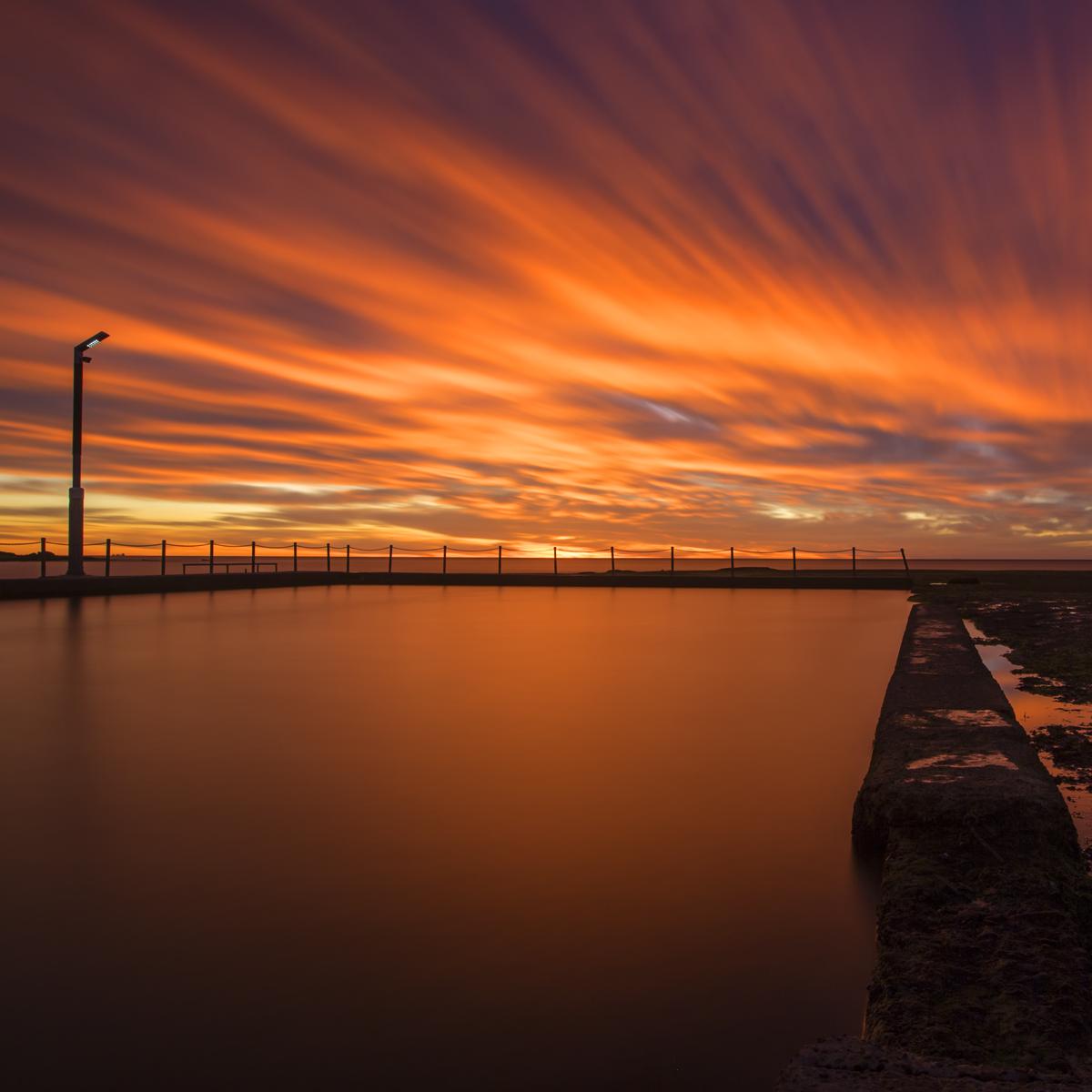 Vibrant Sunrise Mona Vale Ocean Pool