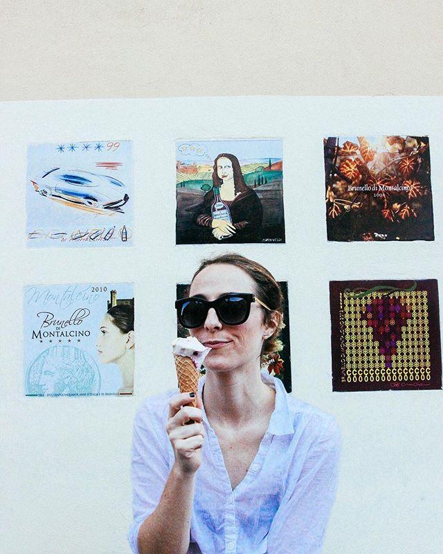 🍦Daily obligatory gelato taste testing. Pistachio ✔️ Nutella ✔️ Cappuccino ✔️ Cherry ✔️ #HadTo 🍦🍨